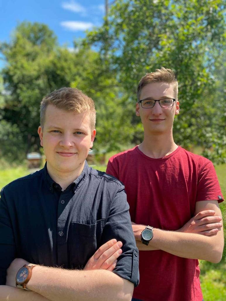 Die Gründer von Honigradar: Rico und Tim