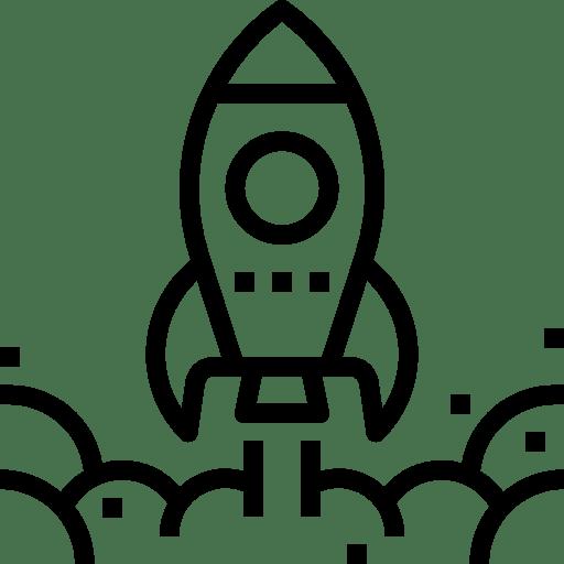 Icon abhebende Rakete