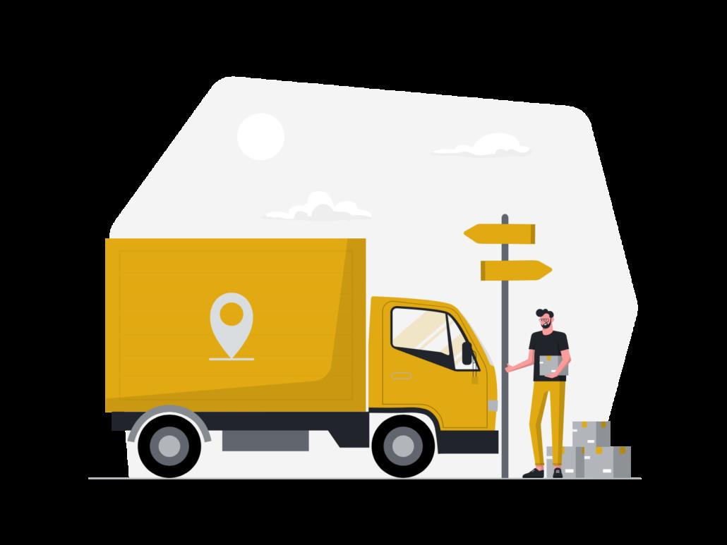 Zeichnung: Lieferwagen
